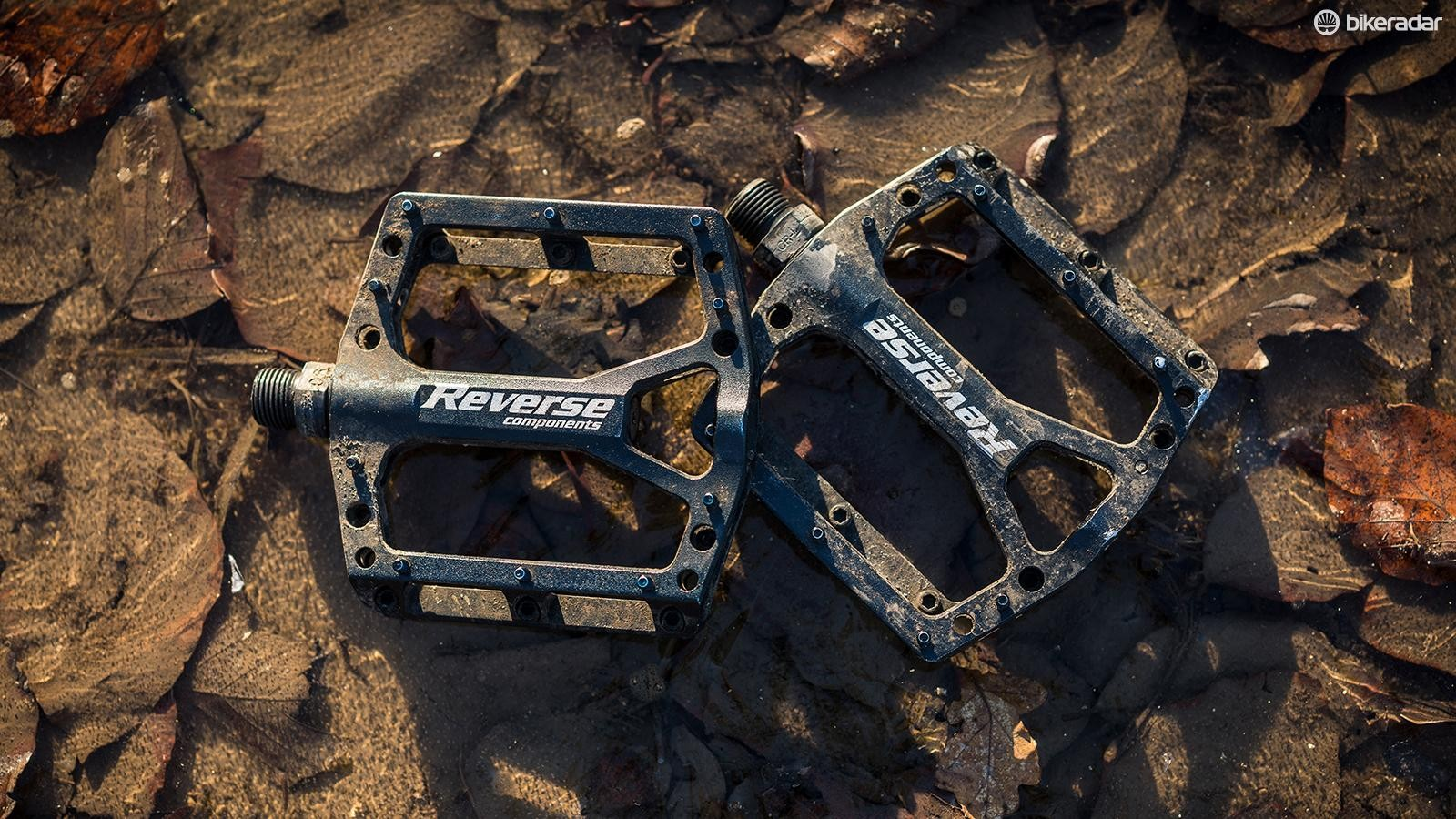Reverse Components' Black ONE pedals