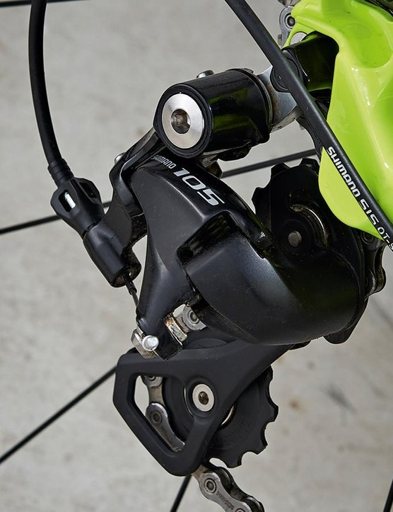 The rear derailleur is a little delicate, so take extra care with it