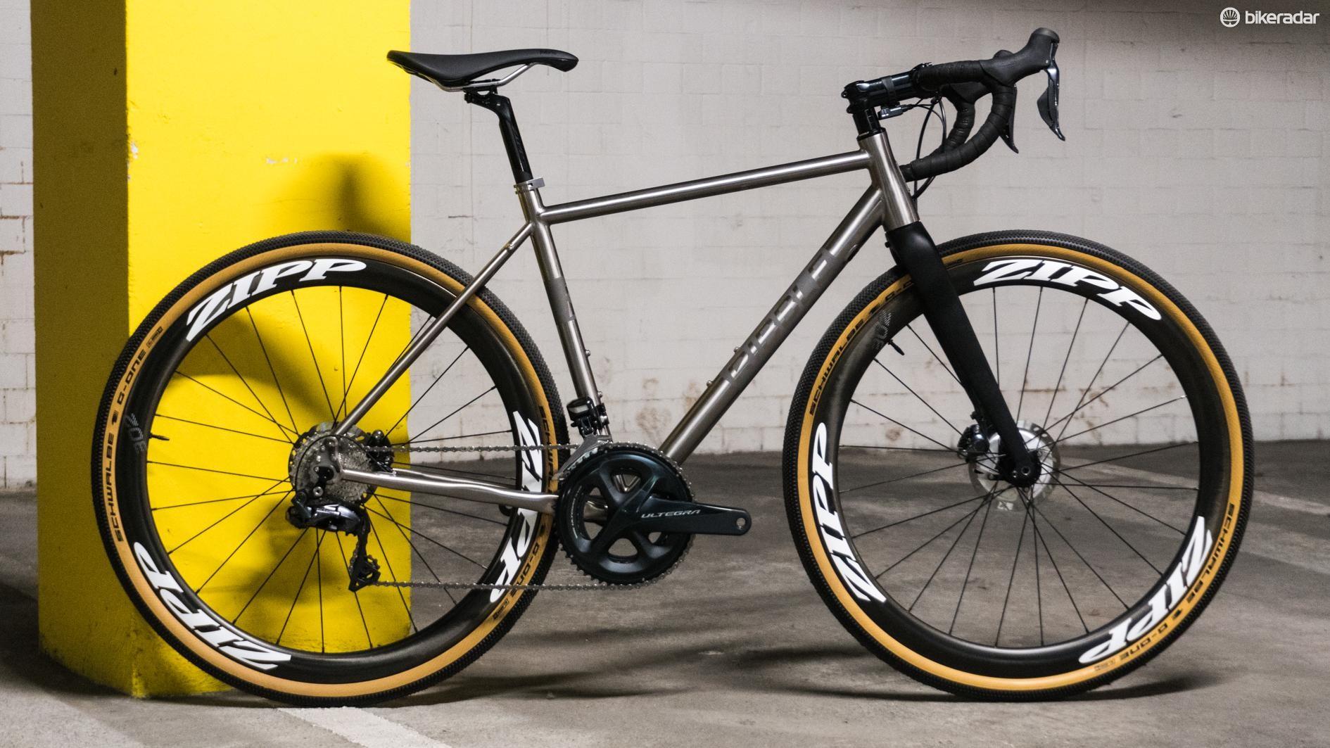 The bike cuts a handsome silhouette
