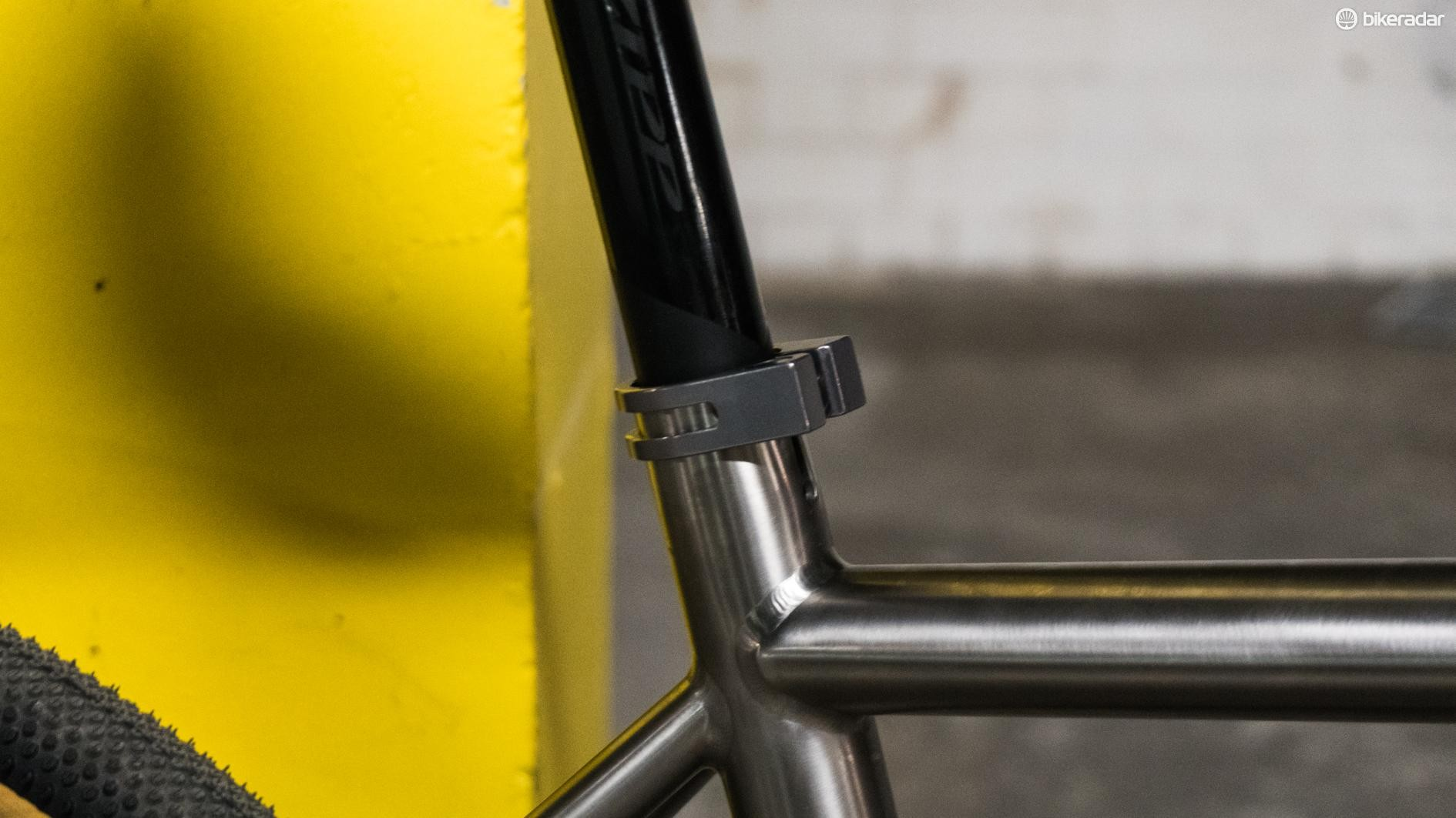 Hooray for external seat clamps and 27.2mm seatposts