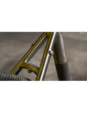 The bike has mounts for both mudguards and racks