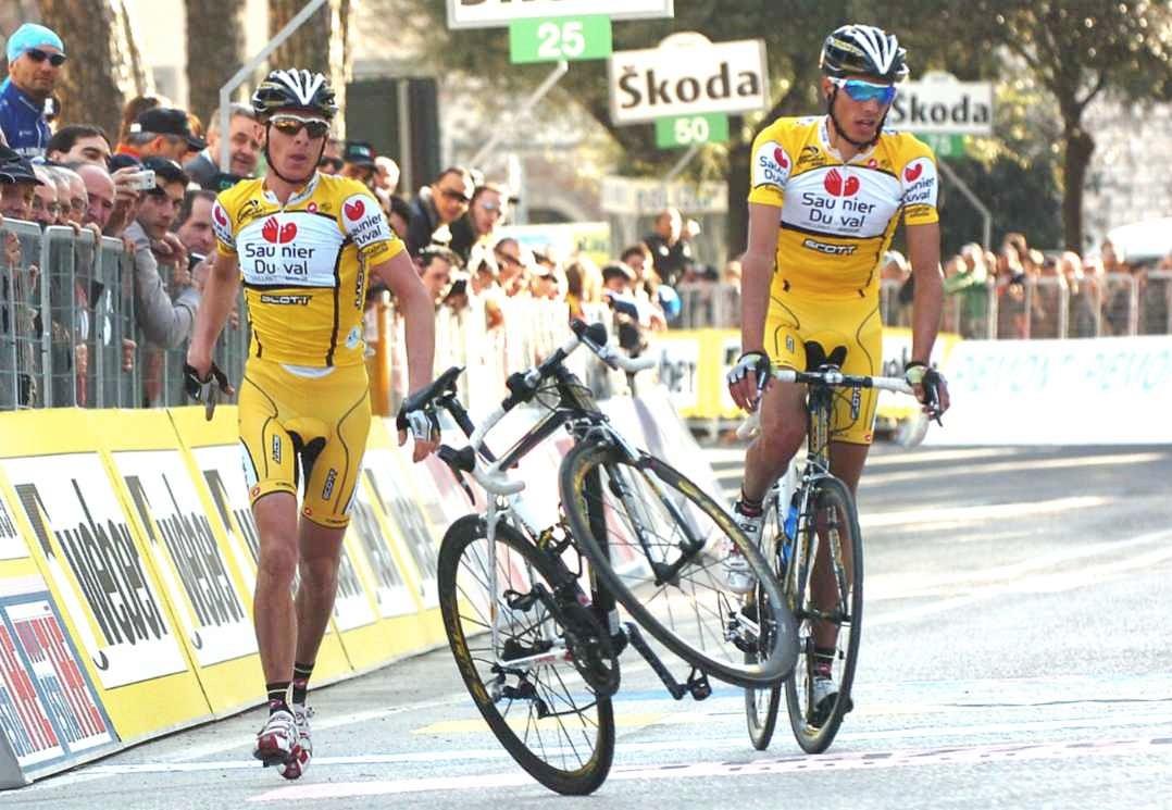 Saunier-Duval bike tosser Riccardo Ricco in Italy this year.