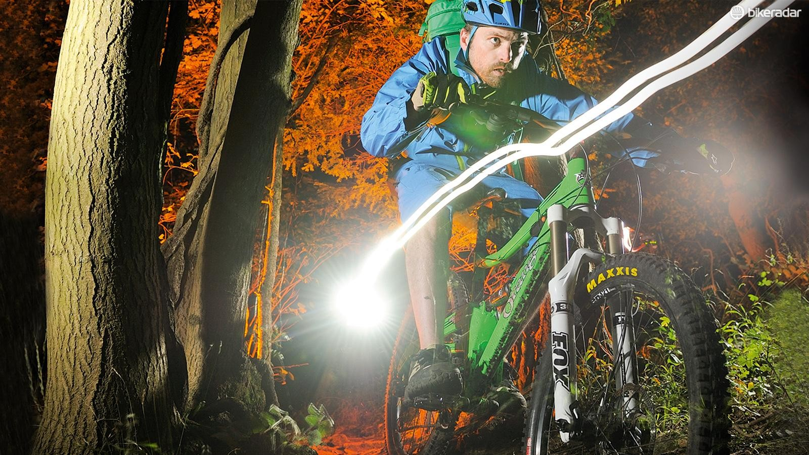 Don't let the dark evenings keep you off of the trails