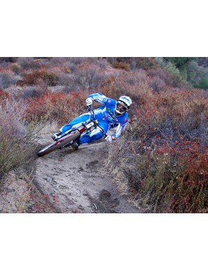 It really makes your jaw drop watching the speed and flow of both riders as they laugh and charge through the trail