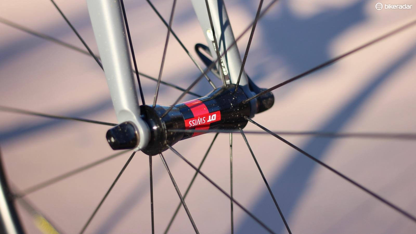 For 2017, Ridley is using DT Swiss hubs on its house wheels