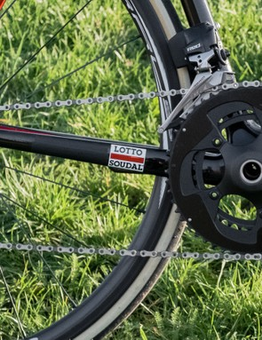 The wireless SRAM Red eTap groupset is a perfect match for a bike of this calibre