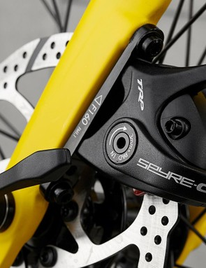 TRP Spyre-C mechanical disc brakes keep the Ridley in check