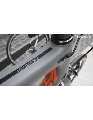 The headtube/top tube/down tube junction has been restyled to provide greater stiffness