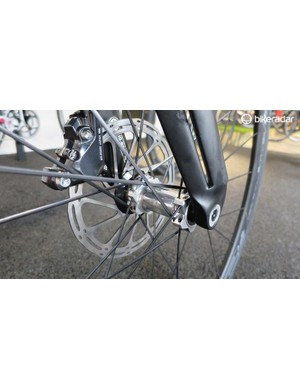 The Split-fork has been adapted for disc use with a 12mm thru-axle