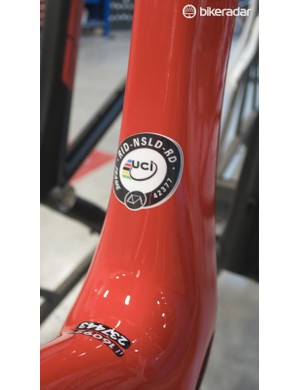 Though it does sport a UCI approval sticker, so we'd expect to see this used in the upcoming test events