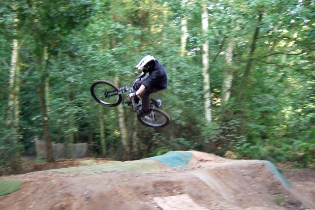 A rider in action at Ringland Hills
