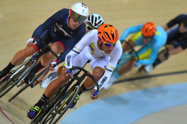 Gaviria and Cavendish in the Omnium at Rio
