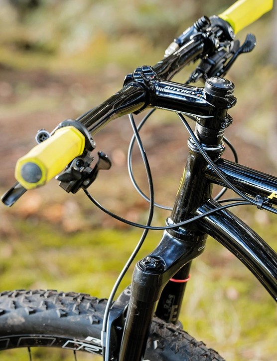 A 1.5in tapered head tube allows for better handling and increased fork compatibility