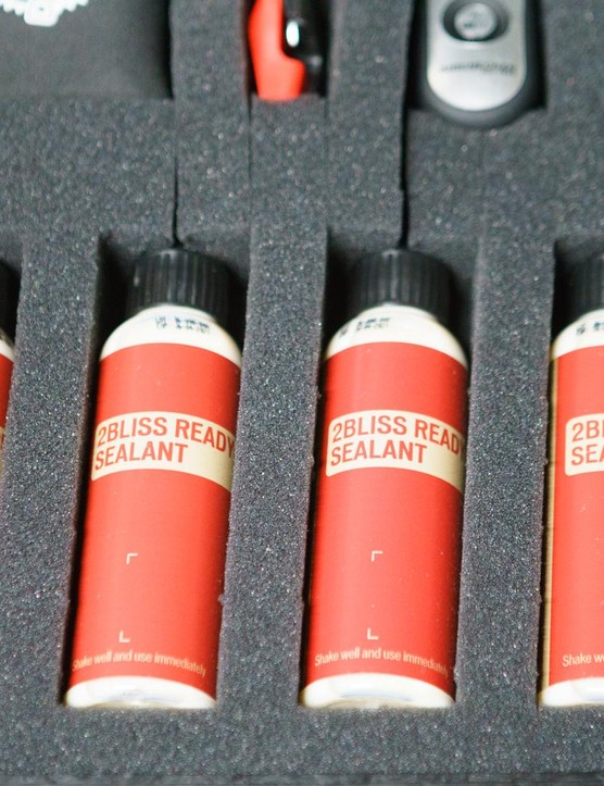 ...several bottles of Specialized's own sealant...