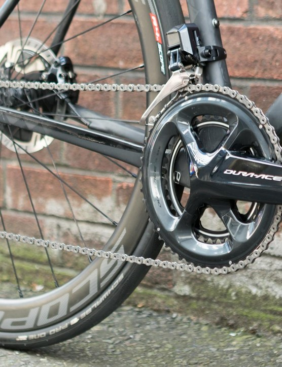 It's equipped with Shimano's top of the line groupset