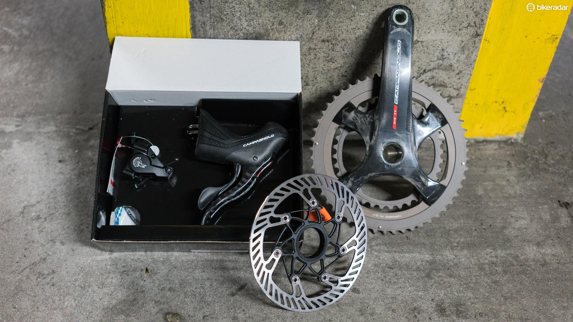 Even if you aren't a fan of Campagnolo components, it's difficult to deny the components look stunning