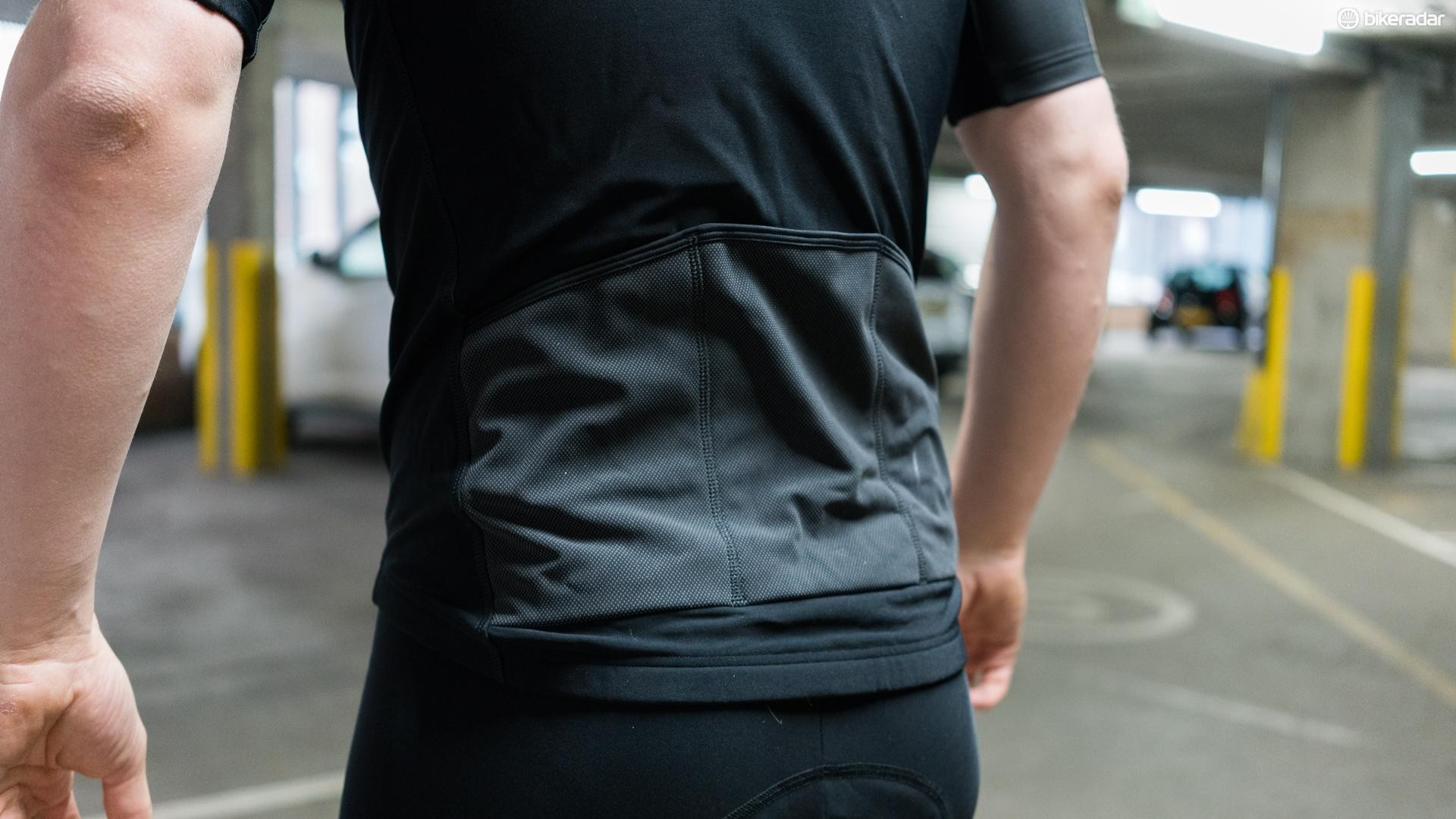 Bioracer's Black Pixel reflective material covers the rear cargo pockets for improved visibility in low light