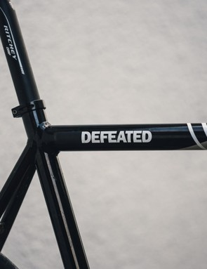 The name of the bike was modified by a colleague to more accurately reflect my hill climb performance this season