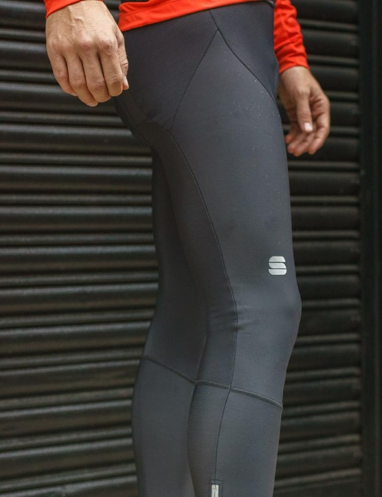 NoRain thermal fabric on the Sportful Fiandre NoRain Pro bib tights offers water protection and warmth