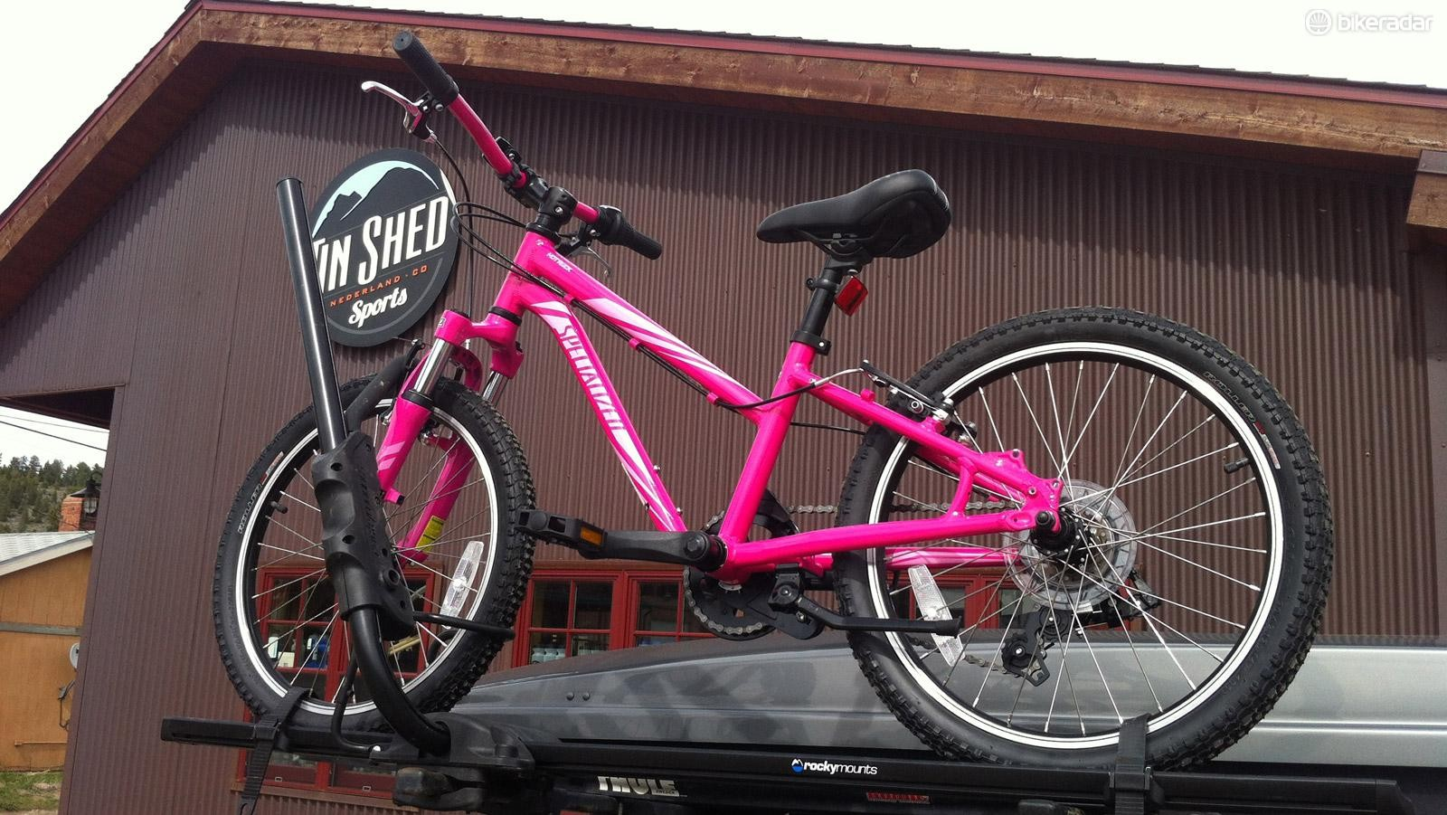 """RockyMounts' Tomahawk carries almost all bikes, from 20"""" kid bikes to full-on fat bikes"""