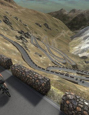The Stelvio is one of the iconic climbs featured on the platform