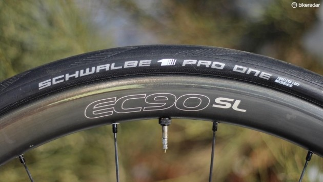 The Schwalbe Pro One tubeless was the fastest on test