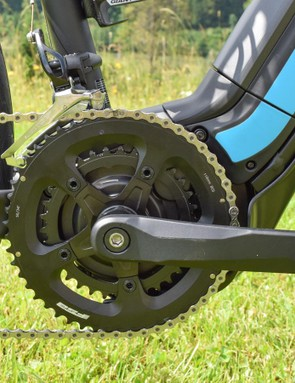 The Yamaha SyncDrive's cranks are rather basic looking things
