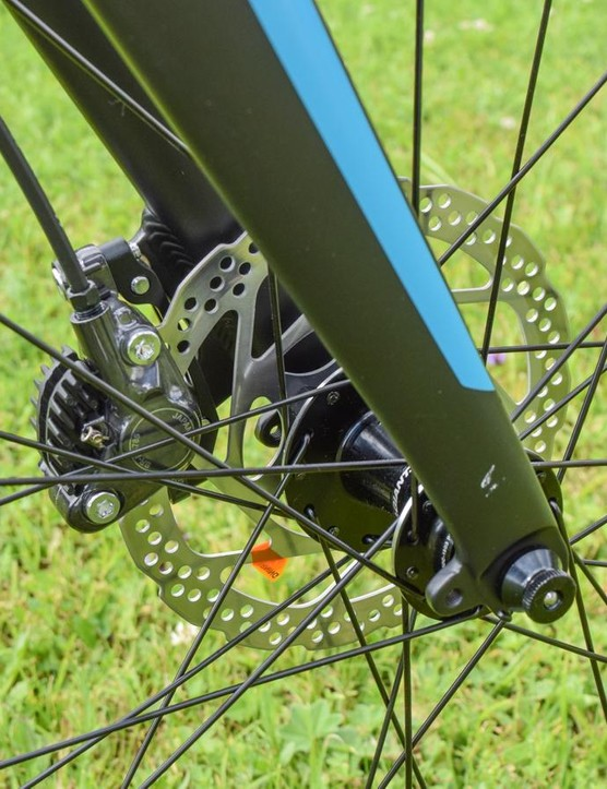 Disc brakes are a must on a bike like this, but better rotors would be nice