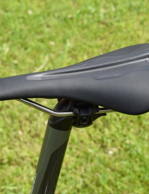 The own-brand saddle is fairly firm