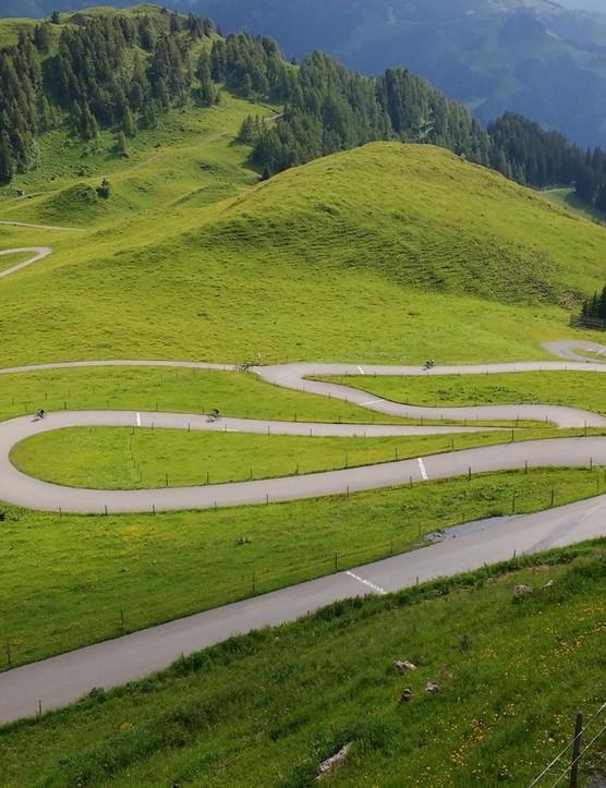 The last kilometre of the Kitzbüheler Horn climb is magnificent
