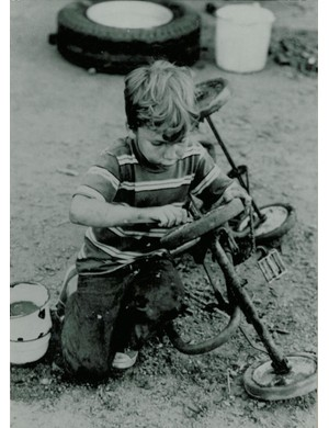 Young Robert, age 4, on the farm in Wisconsin, circa 1966.