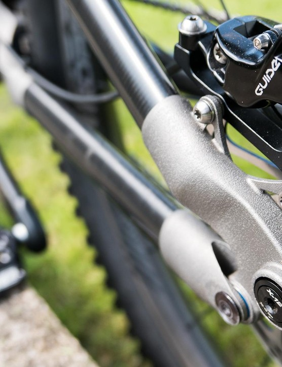 Titanium construction means parts like the brake mount can be delicate as well as strong