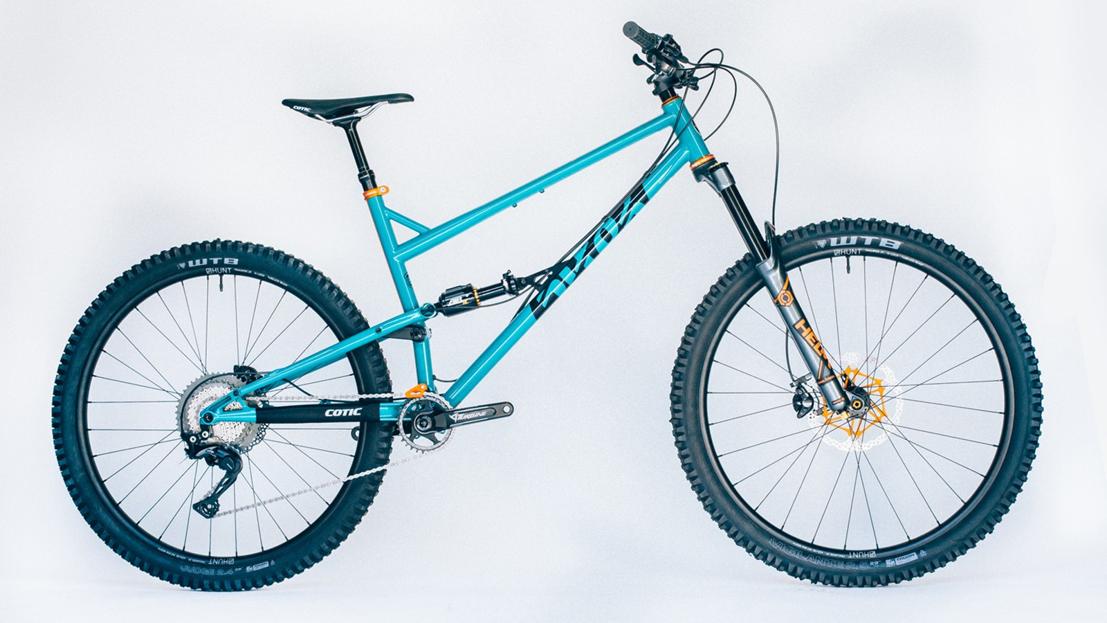 The RocketMAX in a fetching Teal and Tangerine