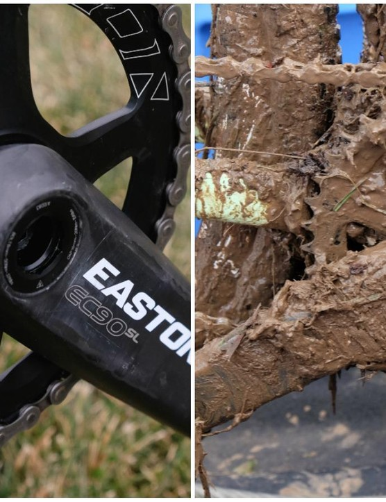 The Easton EC 90 SL crankset before and after the main event