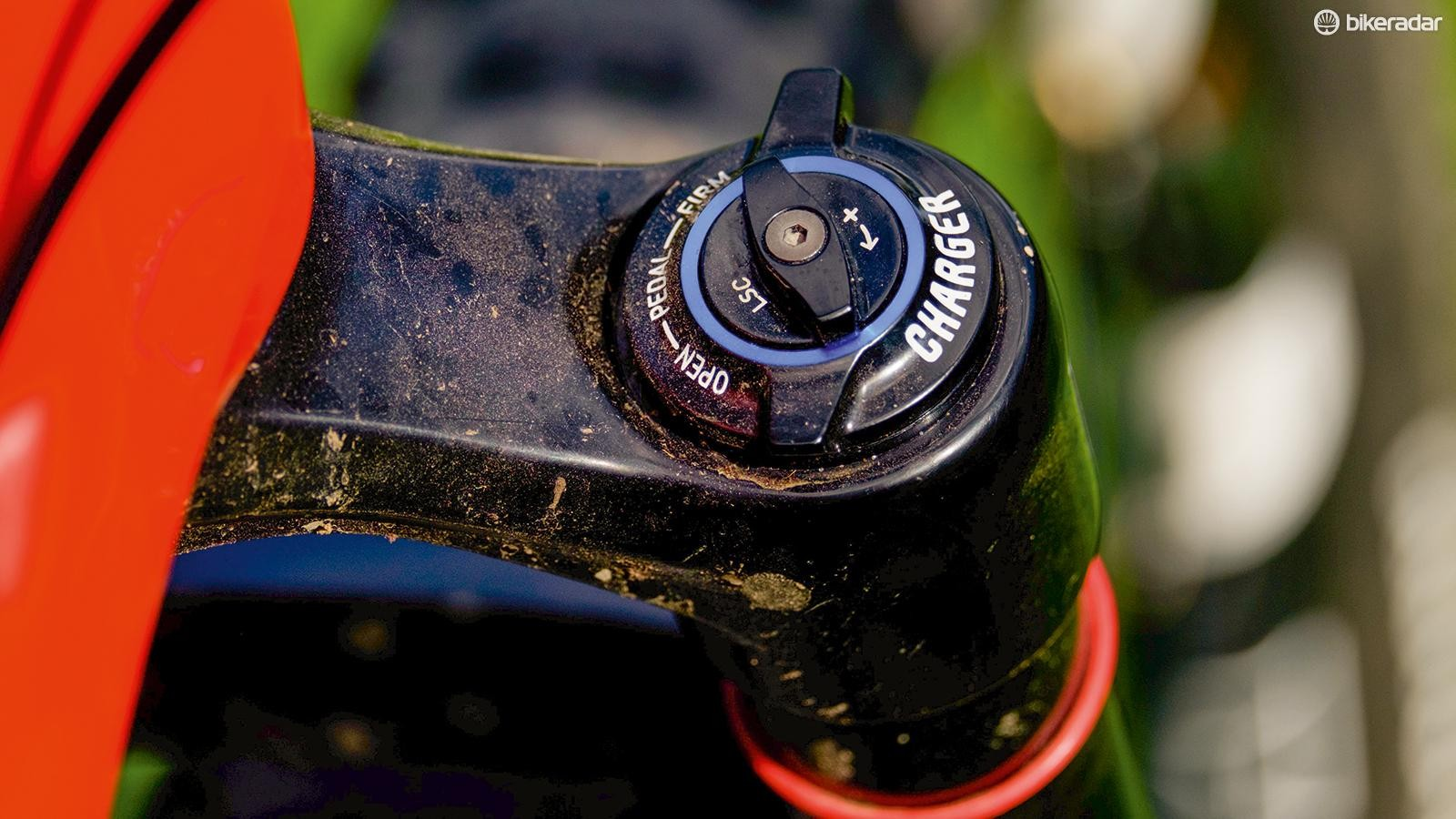 The RockShox Pike RCT3 Solo Air fork's Charger 2