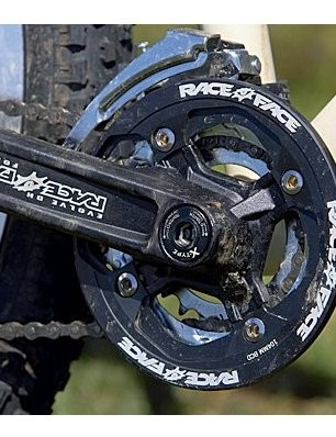 The short cockpit, hefty weight, double-chainring transmission and bolt-through front axle all contr