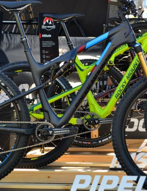 No seatstay bridge and a Boost rear end provide space for plus-size tires