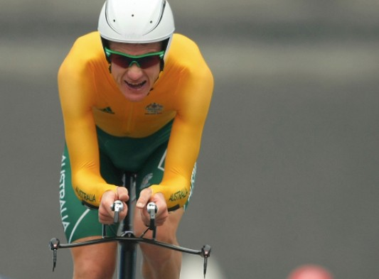 Australia's Michael Rogers competes in the recent Beijing Olympic time trial.