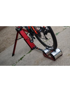 Whether you use them for race-day warm-up or at-home training, the design is compact and relatively easy to move around