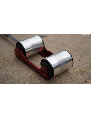 The Omnium's magnetic-resistance rollers provide more top-end resistance than the Raceday Fluid