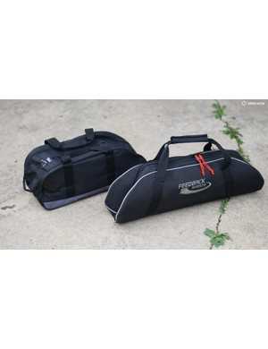 Both portable trainers come with travel bags