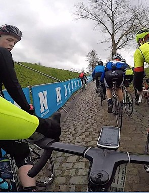 Just the narrow cobbled course, the bike... and 16,000 of your friends