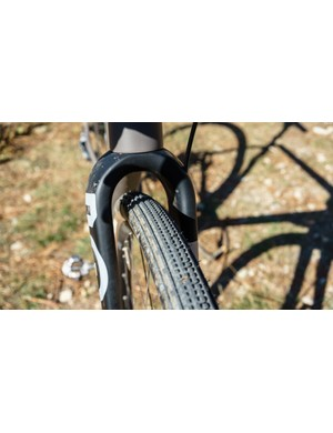 Rondo's carbon fork is stiff and has loads of room for chunky tyres