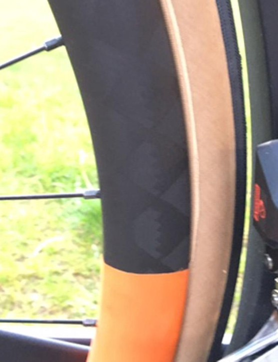 The seat tube was shaped using CFD to be aero and follow the shape of the wheel