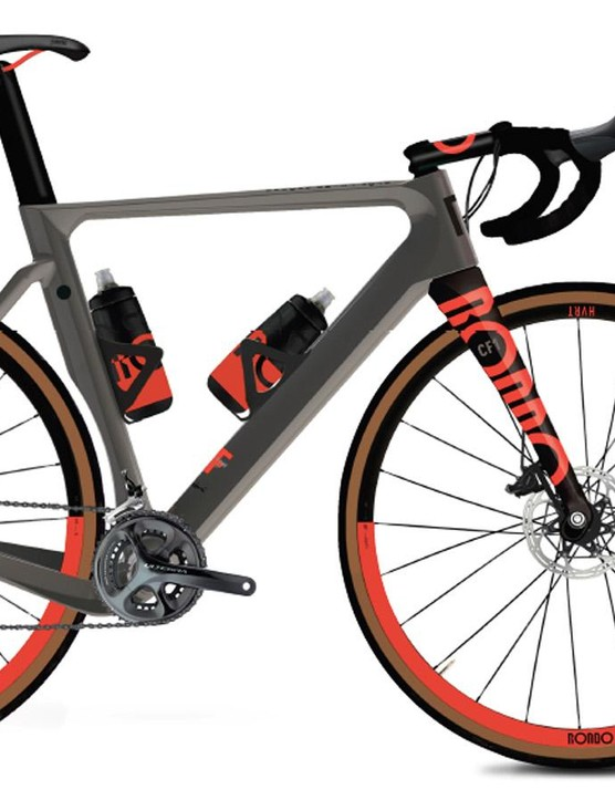 The CF1 with bottle cages and bottles