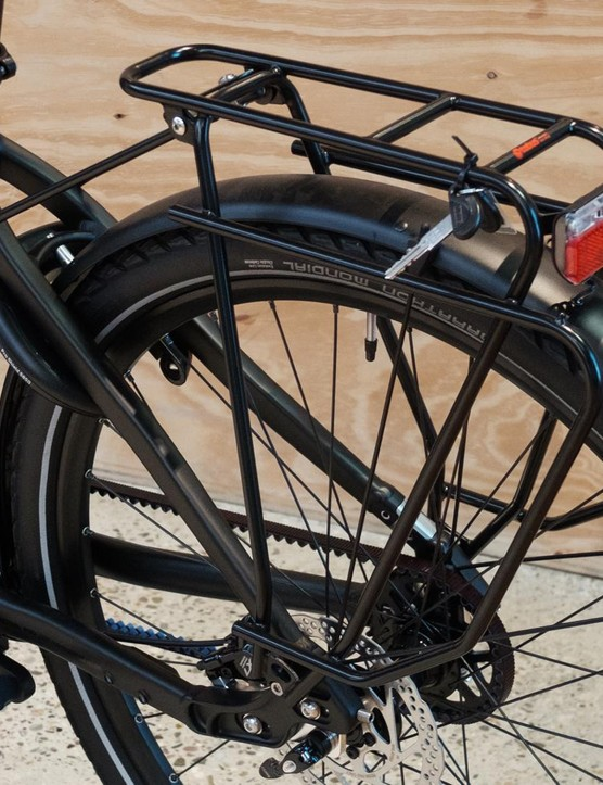 The bike is fitted with Tubus racks front and rear