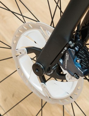 It's good to finally see Shimano's heavily vented rotors in the wild