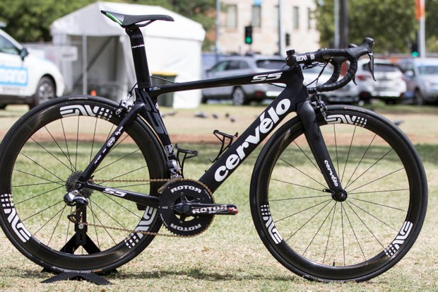 Mark Renshaw's Cervélo S5, sporting the 2INpower cranks at the Tour Down Under