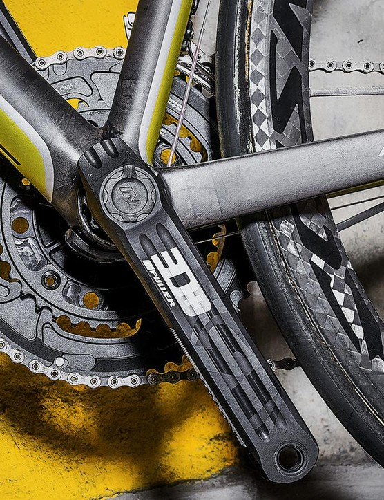Rotor's INpower meter houses all its electronics in the crank axle