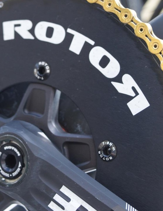 Dimension Data had Rotot noQ chainrings fitted to their Cervélo S5 frames